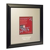 Black-Framed Inscribable Signature Keepsake Mat Kit (Large)