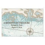 Personalized Treasure Map Wedding Favor and Place Card (Set of 2)