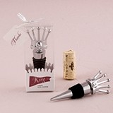 Weddingstar King Crown with Crystals Wine Stopper in Gift Packaging