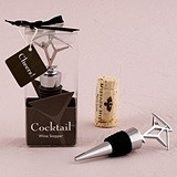 Weddingstar Martini Glasses-Topped Wine Stopper in Gift-Box