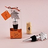 Weddingstar Stylized Leaf Wine Stopper in Gift Packaging