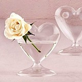 Weddingstar Miniature Clear Blown-Glass Heart-Shaped Vase (Set of 4)
