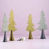 Weddingstar Wooden Die-Cut Evergreen Trees (Set of 2 Assorted)