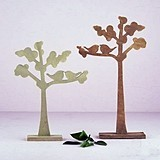 Wooden Die-Cut Decorative Trees with Love Birds Silhouette (Set of 2)