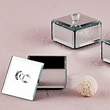 Weddingstar Miniature Beveled-Edge Mirror Boxes w/ Lids (Package of 4)
