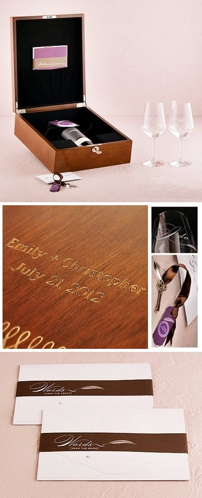Personalized Love Letter and Wine Ceremony Keepsake Box Set