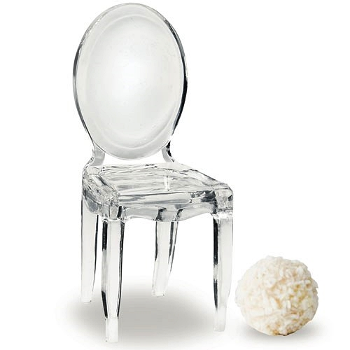 Phantom Chair miniature clear acrylic phantom chair placecard holders package of