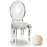 Miniature Clear Acrylic Phantom Chair Placecard Holders (Package of 8)