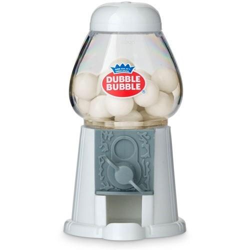 Mini Classic 'Dubble Bubble' White Gumball Dispensers (Set of 2)