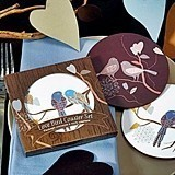 Weddingstar Love Birds Cork-Backed Coaster Set in Gift-Box (Set of 2)