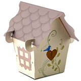 Weddingstar Sweet Bird-House-Shaped Favor Boxes (Set of 12)