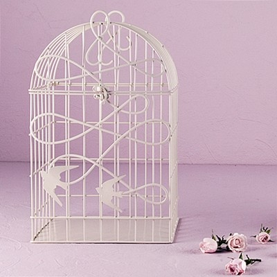 Modern Decorative Birdcage With Birds In Flight Motif (2 Colors)