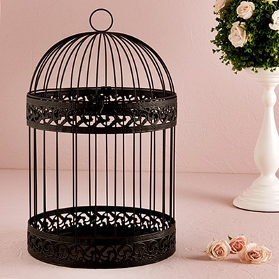 Weddingstar Black Classic Round Decorative Metal Birdcage