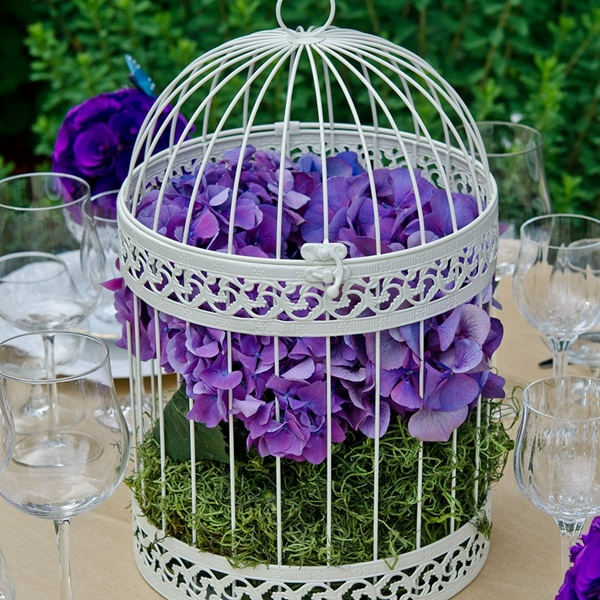 Weddingstar White Classic Round Decorative Metal Birdcage