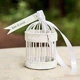 Weddingstar Four Miniature Classic Round Decorative White Birdcages