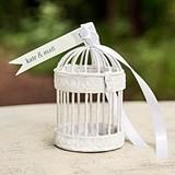 Weddingstar Four Miniature Classic Round Decorative White Birdcages