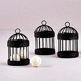 Weddingstar Miniature Classic Round Decorative Birdcages (Set of 4)
