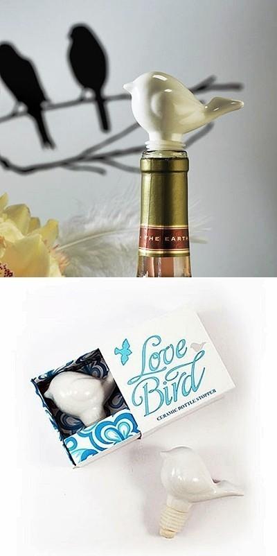 Weddingstar Ceramic Love Bird Bottle Stopper in Gift-Box