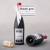 Wine Bottle-Shaped Corkscrew with Personalized Bistro Bliss Label