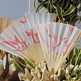 Weddingstar Beach Fan with Delightful Underwater Seascape (Set of 6)