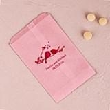 Weddingstar Love Birds Design Foil-Printed Flat Goody Bags (12 Colors)