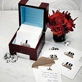 Weddingstar Personalized Wooden Memory Box with Anniversary Stationery