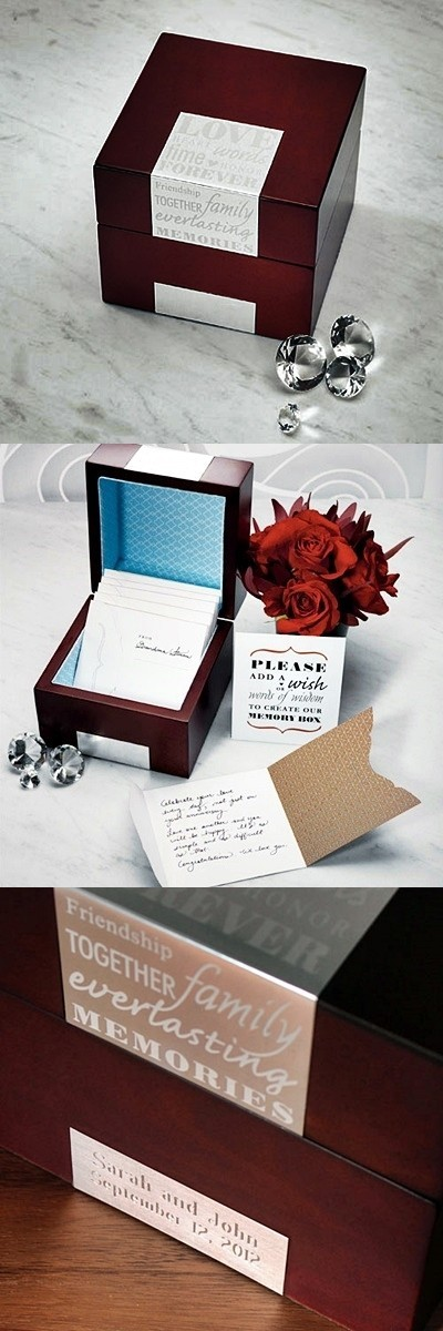 Weddingstar Personalized Wooden Well Wishes Memory Box