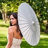 Weddingstar Paper Parasol with Bamboo Boning (18 Colors)