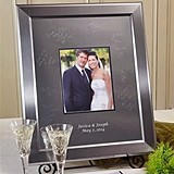 Small Titanium Inscribable Signature Keepsake Photo Mat Kit