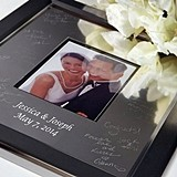 Large Titanium Inscribable Signature Keepsake Photo Mat Kit
