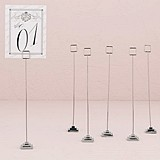 Silver-Plated Stationery/Table Number Holder w/ Tiered Base (Set of 6)
