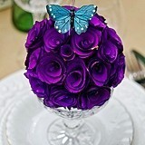 Weddingstar Floral Pomander Ball Made with Wood Curls (8 Colors)