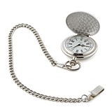 Weddingstar Personalizable Brushed Silver-Plated Pocket Watch