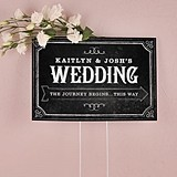 Personalized Chalkboard Print Design Directional Sign (5 Colors)