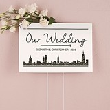 "Personalized ""City Style"" Skyline Design Directional Sign"