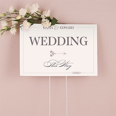 """Personalized """"Classic Script"""" Design Directional Sign"""
