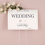 "Personalized ""Classic Script"" Design Directional Sign"