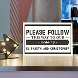 "Personalized ""Bistro Bliss"" Design Directional Sign"