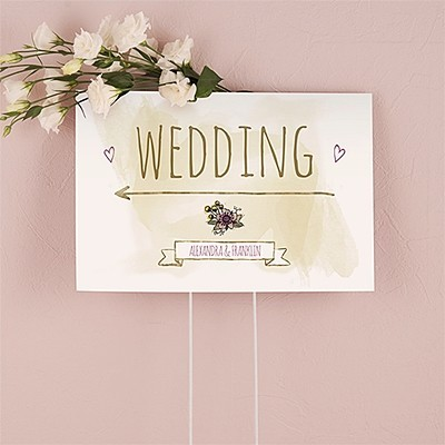 """Personalized """"Natural Charm"""" Design Directional Sign"""