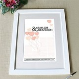 Framed Balloon Hearts Personalized Signature Certificate (6 Colors)