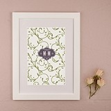 Vineyard Monogram Personalized Signature Certificate (2 Colors)