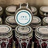 Personalized Homespun Charm Mini Glass Jar with Wire Snap (Set of 12)