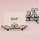 Matte Black Ornamental Wire Stationery/Place Card Holders (Set of 6)