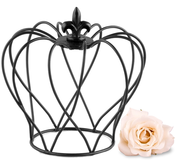 Weddingstar Small Matte Black Wire Crown Favor (Set of 4)