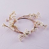 Weddingstar Pearl & Vintage Gold Wire Ornamental Ring
