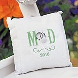 Simply Sweet Personalized Vineyard Monogram Linen Ring Pillow