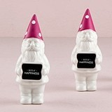 """Wishes of Happiness"" Porcelain Miniature Gnomes (Set of 4)"