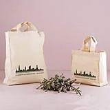 City Style Skyline Design Personalized Tote Bag