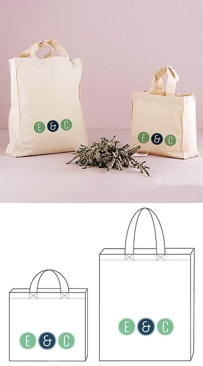 """""""Smart Type"""" Design Personalized Tote Bag"""