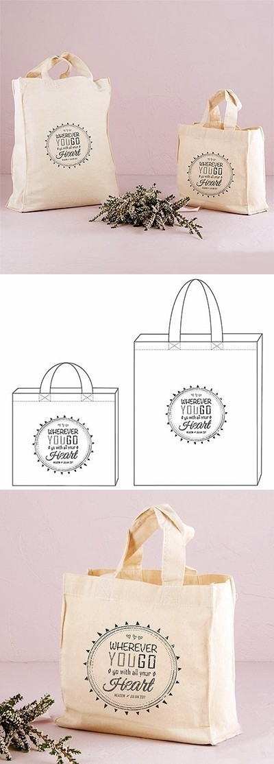 """Free Spirit"" Design Personalized Tote Bag"